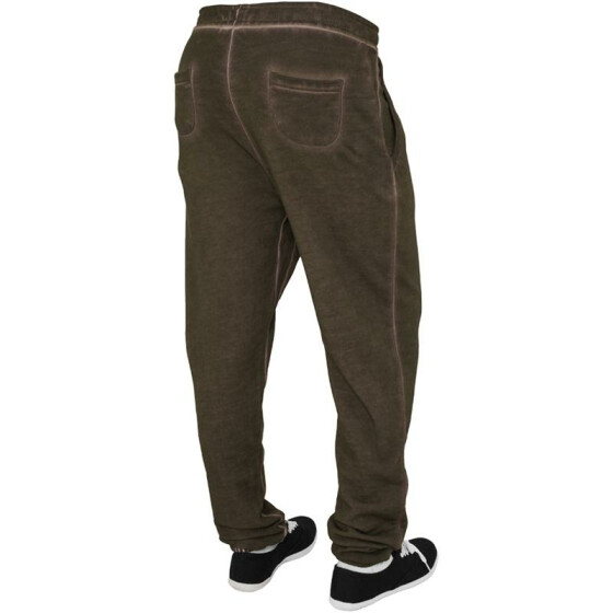 Urban Classics Ladies Spray Dye Sweatpant, olive