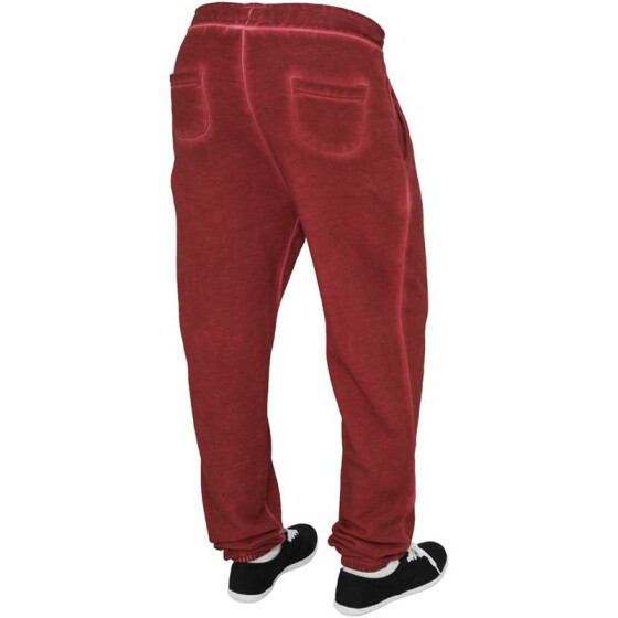 Urban Classics Ladies Spray Dye Sweatpant, ruby