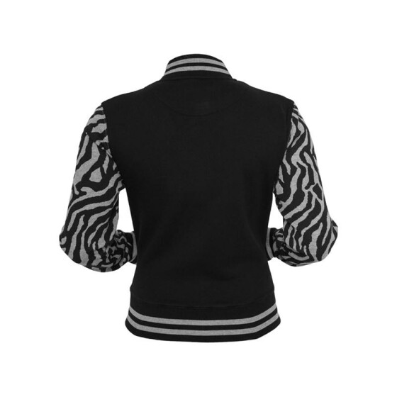 Urban Classics Ladies Zebra 2-tone College Sweatjacket, gry/blk