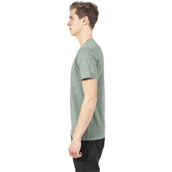 Urban Classics Melange V-Neck Pocket Tee, green