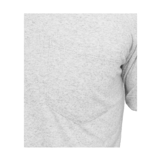 Urban Classics Melange V-Neck Pocket Tee, lightgrey