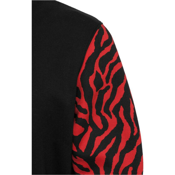 Urban Classics 2-tone Zebra College Jacket, red/blk