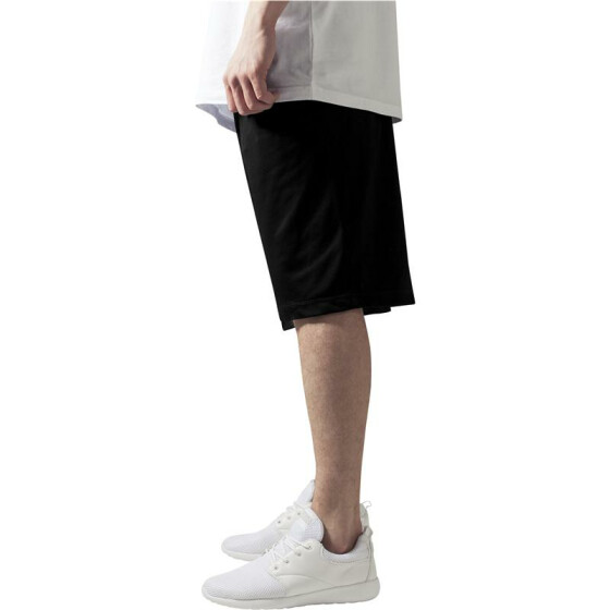 Urban Classics BBall Mesh Shorts with Pockets, black