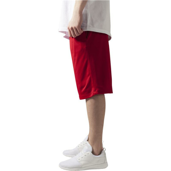 Urban Classics BBall Mesh Shorts with Pockets, red