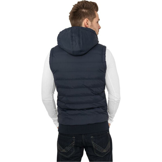 Urban Classics Small Bubble Hooded Vest, nvy/wht