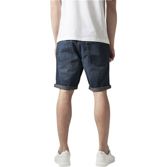 Urban Classics Fitted Denim Shorts, denimblue