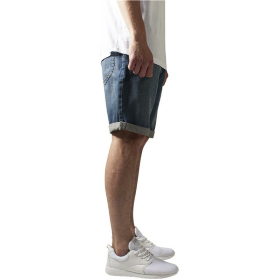 Urban Classics Fitted Denim Shorts, lightblue