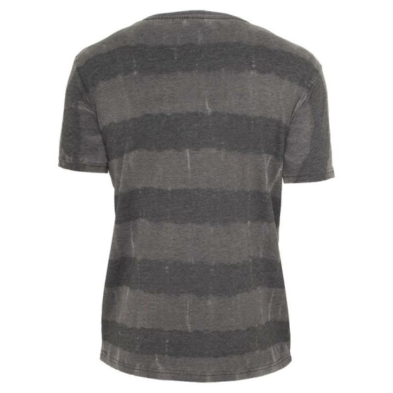 Urban Classics Fantasy Stripe Burnout V-Neck Tee, darkgrey