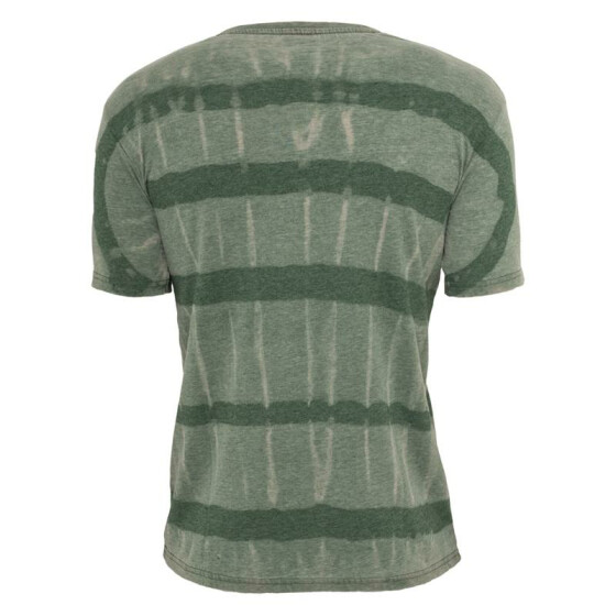 Urban Classics Fantasy Stripe Burnout V-Neck Tee, green