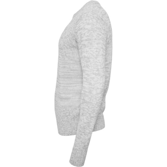 Urban Classics Melange Knitted Crew, gry/wht
