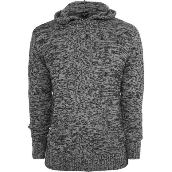 Urban Classics Melange Knitted Hoody, blk/gry