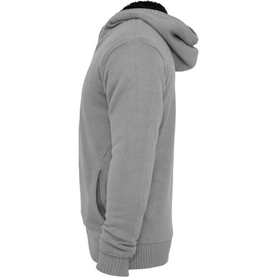 Urban Classics Knitted Winter Zip Hoody, gry/blk