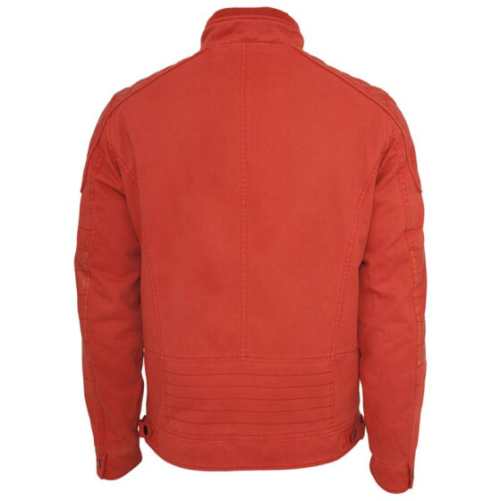 Urban Classics Cotton/Leathermix Racer Jacket, red