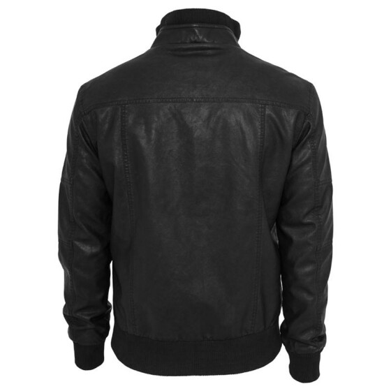 Urban Classics Leather Imitation Jacket, black