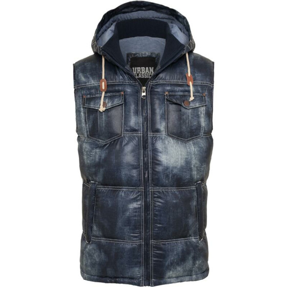 Urban Classics Denim Look Vest, denimblue