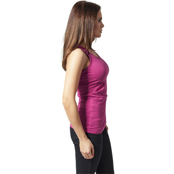 Urban Classics Ladies Cutted Back Tanktop, fuchsia