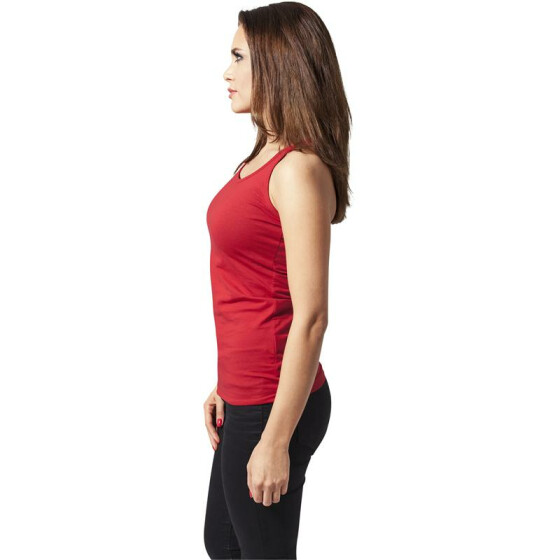 Urban Classics Ladies Cutted Back Tanktop, red