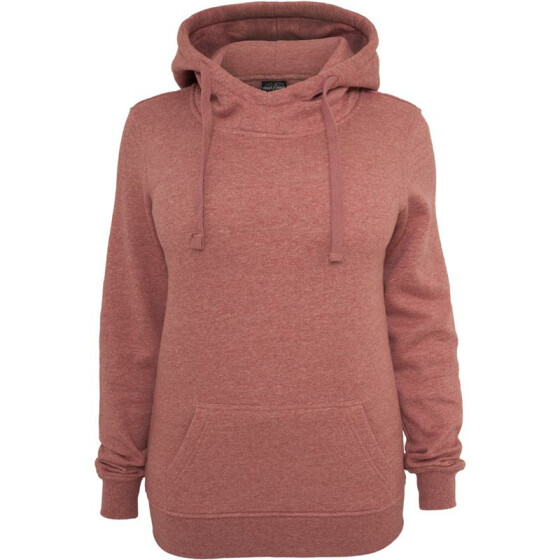 Urban Classics Ladies Melange Hoody, ruby