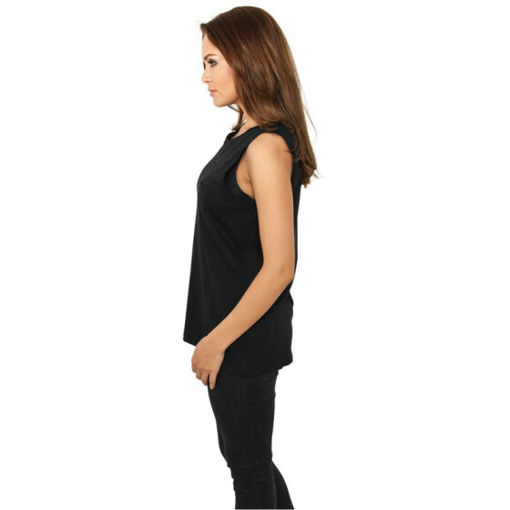 Urban Classics Ladies Sleeveless Pocket Tee, black