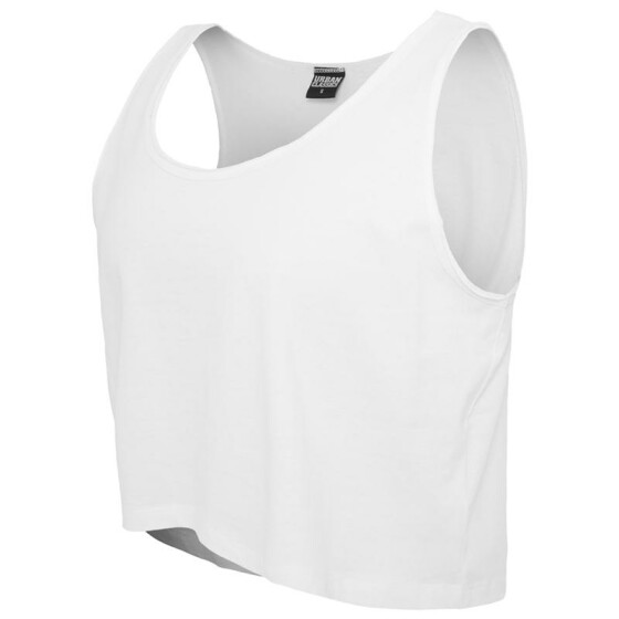 Urban Classics Ladies Open Edge Short Tee, white