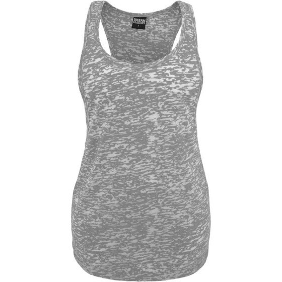 Urban Classics Ladies Melange Burnout Loose Tank, grey