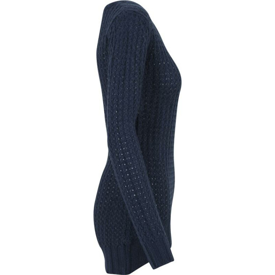 Urban Classics Ladies Long Wideneck Sweater, navy