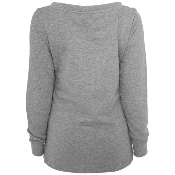 Urban Classics Ladies Wideneck Pocket Crew, grey