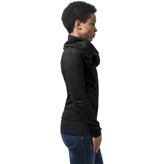 Urban Classics Ladies Asymetric Zip Jacket, black