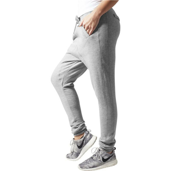 Urban Classics Ladies Deep Crotch Sweatpant, grey