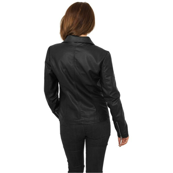 Urban Classics Ladies Biker Jacket, black