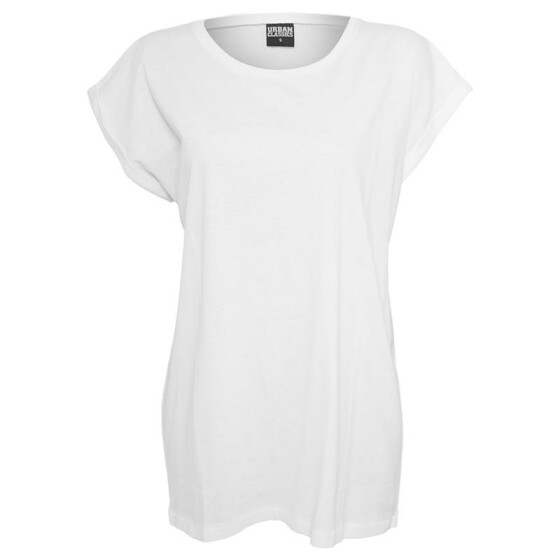Urban Classics Ladies Extended Shoulder Tee, white