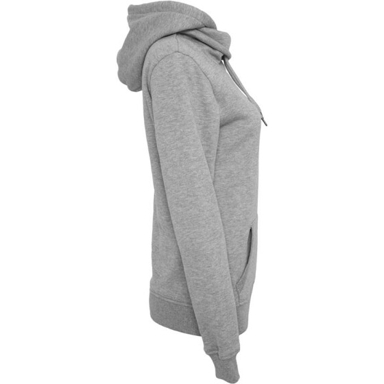 Urban Classics Ladies High Neck Hoody, grey