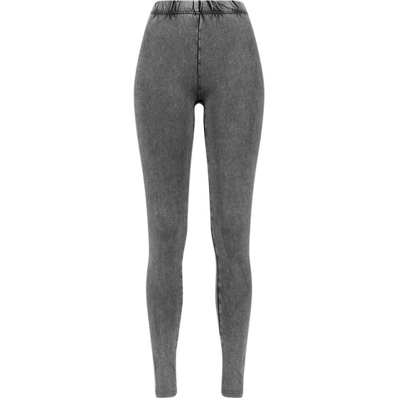 Urban Classics Ladies Acid Wash Leggings, grey