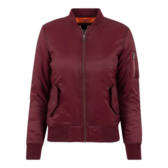 Urban Classics Ladies Basic Bomber Jacket, burgundy