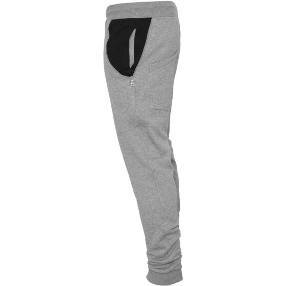 Urban Classics Side Zip Contrast Pocket Sweatpant, gry/blk