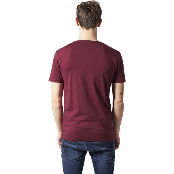 Urban Classics Fitted Stretch Tee, burgundy