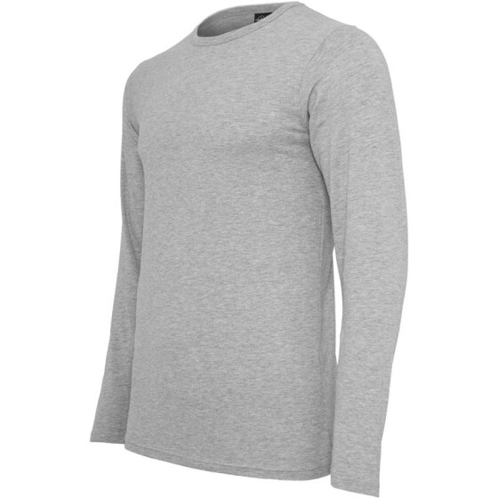Urban Classics Fitted Stretch L/S Tee, grey