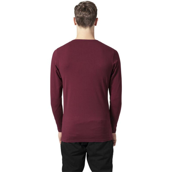 Urban Classics Fitted Stretch L/S Tee, burgundy