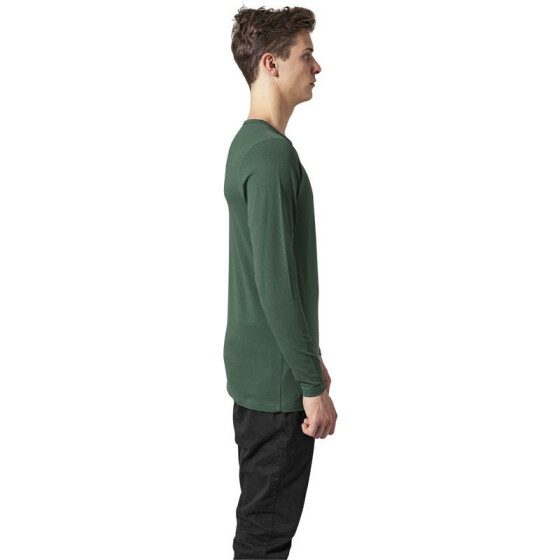 Urban Classics Fitted Stretch L/S Tee, forest