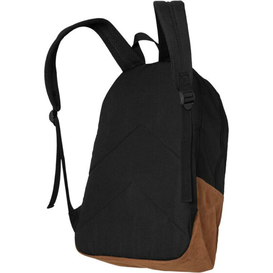 Urban Classics Backpack Leather Imitation, blk/brn