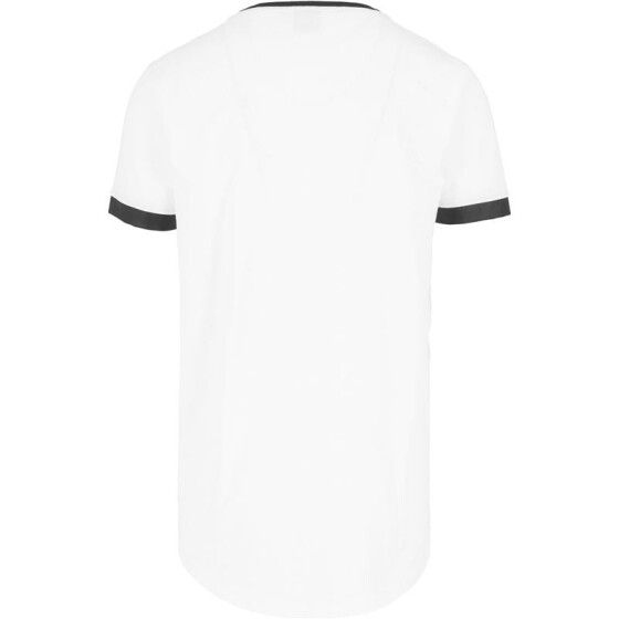 Urban Classics Long Shaped Leather Imitation Tee, wht/blk