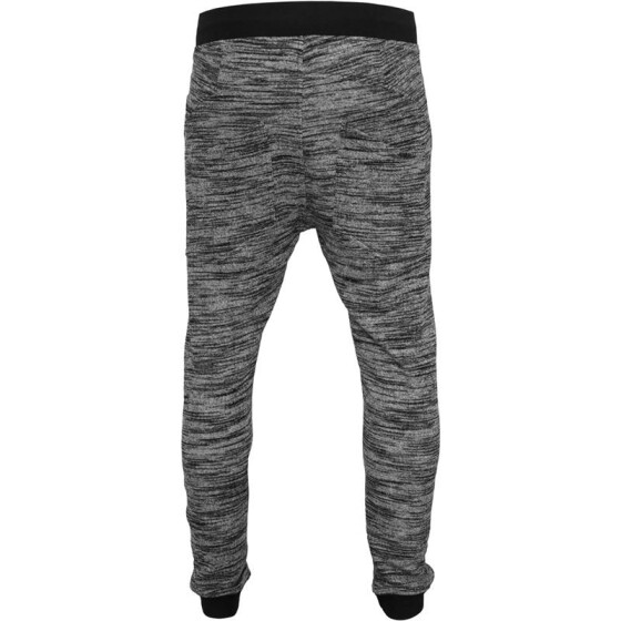 Urban Classics Fitted Terry Melange Sweatpants, blk/gry