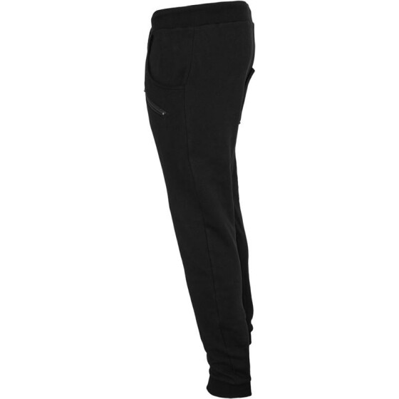 Urban Classics Zip Deep Crotch Sweatpants, black