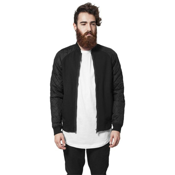 Urban Classics Diamond Nylon Sweatjacket, blk/blk