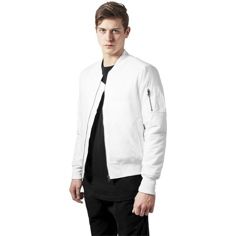 urban classics basic bomber jacket white. Black Bedroom Furniture Sets. Home Design Ideas