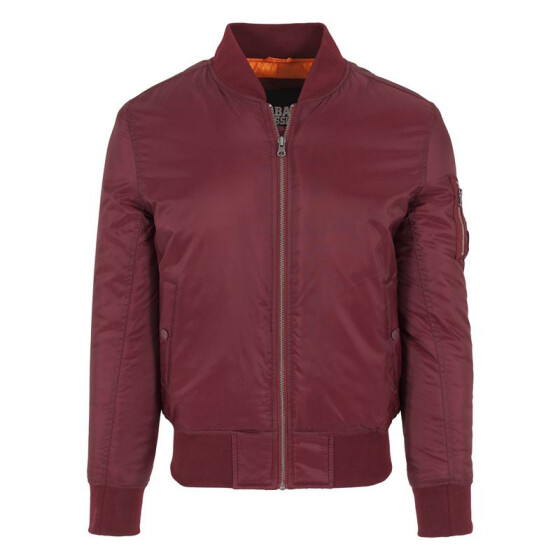 Urban Classics Basic Bomber Jacket, burgundy