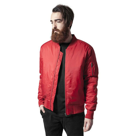 Urban Classics Basic Bomber Jacket, fire red