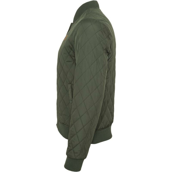 Urban Classics Diamond Quilt Nylon Jacket, olive