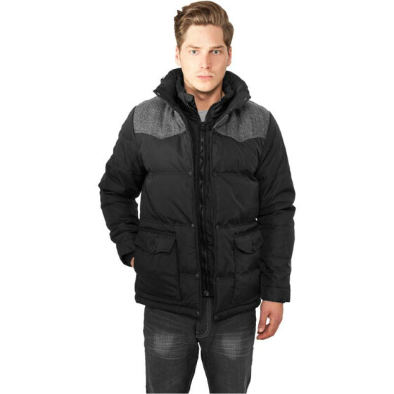 Urban Classics Material Mixed Winter Jacket, blk/gry