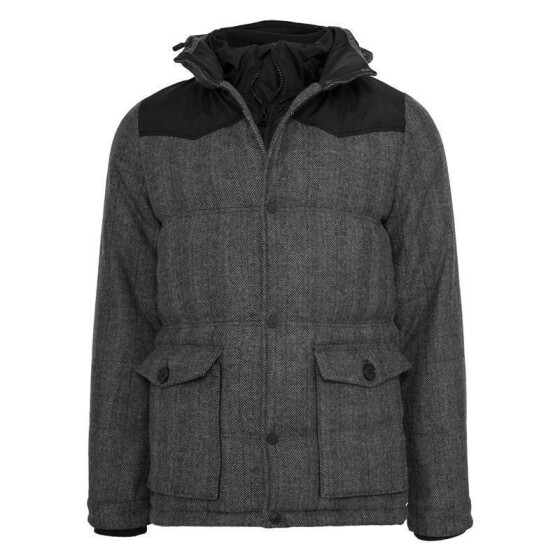 Urban Classics Material Mixed Winter Jacket, gry/blk